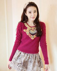 Embroidery hollow-out pullover sweater , embroidered red pullover, fashion heart shaped hollow-out sweater #embroidery #hollow-out #pullover #sweater www.loveitsomuch.com