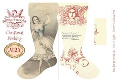 Wings of Whimsy: DIY Vintage Christmas Stocking No 25 Printable with Tutorial