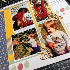 Is Scrapbooking Corny Sentimentalism or Not? | MaryGunnFunn.com apple picking layout