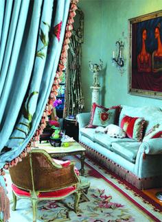 ⋴⍕ Boho Decor Bliss ⍕⋼ bright gypsy color & hippie bohemian mixed pattern home decorating ideas - aqua