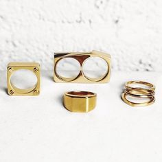 It's a gold kind of day // vitalydesign.com // worldwide shipping available //  by @knyew #vitaly #fashion #rings #gold