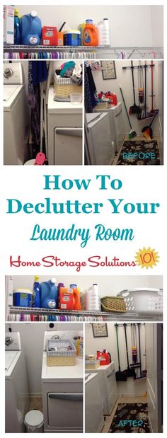 How to declutter your laundry room, with tips and before and after photos from readers who've done this #Declutter365 mission {on Home Storage Solutions 101}