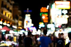 City Lights At Night, Night City, Night Light, Blurred Lights, Bokeh, Image, Bedside Lamp, Boquet