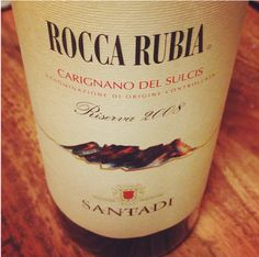 Dave in Brooklyn thought this from Carignano from Sardegna was interesting – I gotta get on the Sardinian wine train.