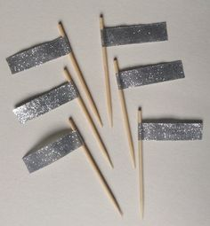 Decorative Silver Toothpick Flags (Set of 12)  by RittenhouseTrades, $6.00