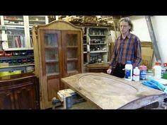 alte Schellackpolitur regenerieren, aufpolieren, auffrischen, säubern - YouTube