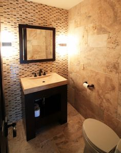 Mountain culture inspired powder room design by TVL Creative