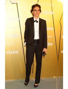Laura Ponte eligió un smoking de corte masculino y completó el look con espectaculares joyas de Aristocrazy.