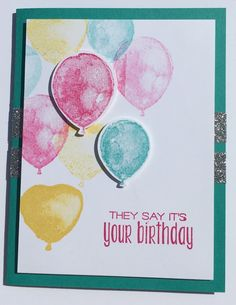 It's Your Birthday, Birthday Cards, Kids Cards, Metallica, Note Cards, Handmade Cards, Card Ideas, Diy And Crafts, Balloons