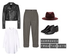 """Borrowed from the boys. (Androgynous Fashion)"" by mohini-biyani on Polyvore featuring MiH, Gucci, Yves Saint Laurent and rag & bone"