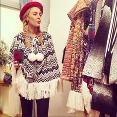 Shades of grey Poncho!!! TAMTA