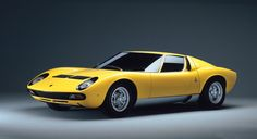 Lamborghini Miura was the first production sports car with a mid-engine layout