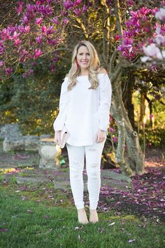 How to style white on white for Spring