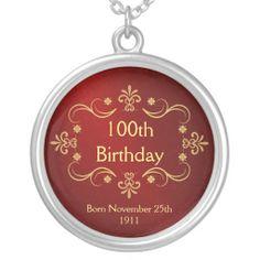 100th Birthday Necklace - Vintage Frame Pendant http://www.branddot.com/14/100th_birthday_necklace_vintage_frame_pendant-177437201170140503