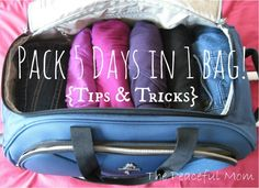 Pack 5 Days in 1 Bag - Tips from The Peaceful Mom