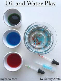 This oil and water play stem activity for toddlers and preschoolers is easy to set up and ideal for keeping little hands busy while they discover and play. Water Play Activities, Play Activity, Water Games For Kids, Toddler Learning Activities, Indoor Activities For Kids, Infant Activities, Family Activities, Outdoor Activities, Skittles Experiment