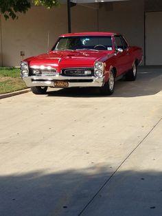Vintage Motorcycles Muscle Red 66 Pontiac GTO Plus Pontiac Gto, Chevrolet Corvette, Classic Chevy Trucks, Classic Cars, Auto Retro, Chevy Muscle Cars, Automobile, Us Cars, Vintage Trucks