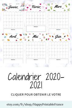 Calendrier Du Potager Mois Par Mois à Imprimer 2021 Les 100+ meilleures images de Calendars   calendriers en 2020