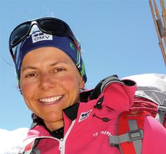 GERLINDE KALTENBRUNNER, female Austrian mountaineer. She was the third woman to to climb all 14 highest summits, BUT THE FIRST WOMAN to do so WITHOUT bottled oxygen and high altidude porters. What an incredible achievement. She is my Austrian heroine.