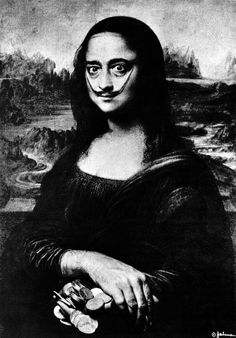 Salvador Dalí, Self Portrait as Mona Lisa,1952.