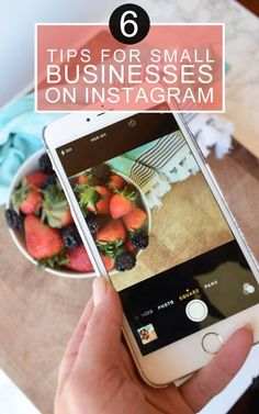 6 tips to help your small business improve it's Instagram account. #startup #entrepreneur #onlinebusiness