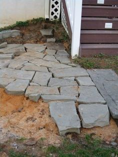 How To Lay A Stone Patio Flagstone Patio, Backyard Patio, Diy Patio,  Backyard