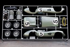 1:1 scale model parts tree of Aston Martin's 1959 Le Mans winner is stunning