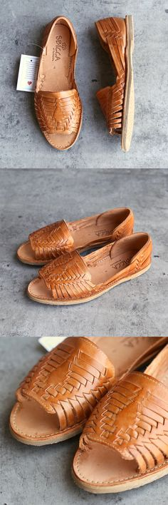 - Jared huarache sandal from Sbicca™. - Genuine leather upper features woven detail. - Slip-on design. - Round silhouette with open-toe. - Leather insole. - Rubber sole. - Imported. - Measurements: -