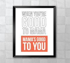 When You're Good To Mama Hairpsray Lyric Quote 8x10 by LyricWall
