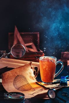Steampunk tea (with a hot air balloon) by Arken
