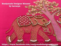 HouzDeco – Interior Design and Home Decor Ideas Aari Embroidery, Embroidery Works, Indian Embroidery, Hand Embroidery Designs, Embroidery Dress, Embroidery Patterns, Sewing Patterns, Embroidery Stitches, Maggam Work Designs