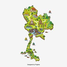 Thailand Tourist Map Design Vector and PNG Thailand Tourism, Thailand Art, Thailand Photos, Thailand Travel, Powerpoint Slide Designs, Map Icons, Asia Map, Tourist Map, Map Wallpaper