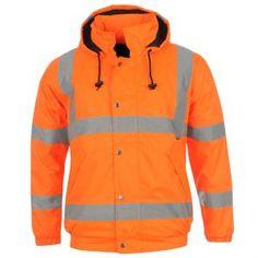 Dunlop Hi Vis Bomber Jacket Mens Nike Jacket, Bomber Jacket, Sheepskin Jacket, Work Wear, Motorcycle Jacket, Stripes, Comfy, How To Wear, Stay Safe