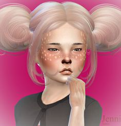 Jennisims: Downloads sims 4: Accessory and Face Paint Child Male /Female