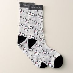 530119705 Cute Dogs Pattern custom name socks - animal gift ideas animals and pets  diy customize Family