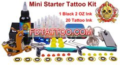 Professional Tattoo Gun Kit for Lining and Shading x Colors Included) 1 Tattoo, New Tattoos, Tattoo Kits For Sale, Tattoo Machine Kits, Professional Tattoo, Tattoo Artists, Ink, Colors, India Ink