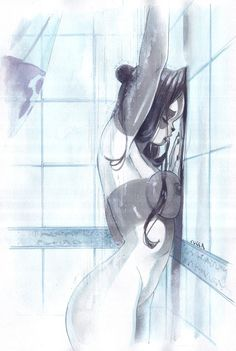Vanessa in the shower by cuccadesign