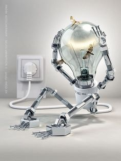 get real light bulb. add nuts and bolts.