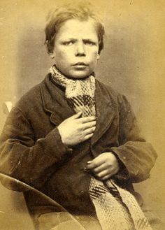 Mugshot: Henry Miller (aged 14). Sentenced to 14 days hard labour for stealing an item of clothing.