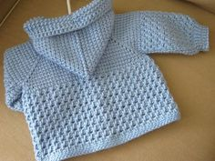 Crochet Patterns Sweter Light Blue Crochet Baby Sweater with Hood for by ForBabyCreations Crochet For Boys, Knitting For Kids, Baby Knitting Patterns, Baby Patterns, Free Crochet, Crochet Patterns, Crochet Baby Sweaters, Crochet Baby Clothes, Cardigan Pattern