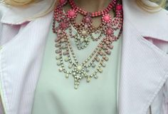 colorful candy-coated jewels {statement necklace}