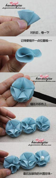 Ribbon Flower Hair Pin DIY Projects | UsefulDIY.com Follow Us on Facebook --> https://www.facebook.com/UsefulDiy