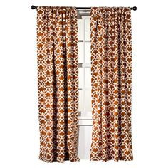 Curtains in Dining Room ~ Target Home™ Farrah Fretwork Window Panel in Rust