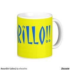 Amarillo!! (eliso) taza básica blanca