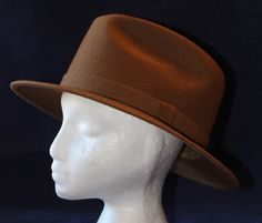 Vintage Men's Fedora by Country Gentleman, Wool, 1960's Era by ilovevintagestuff on Etsy