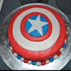 My sons captian America cake