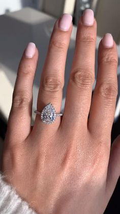 Elegant Engagement Rings, Pear Shaped Engagement Rings, Engagement Sets, Engagement Ring Settings, Wedding Sets, Wedding Ceremony, Wedding Rings, Pear Shaped Diamond, Halo Diamond