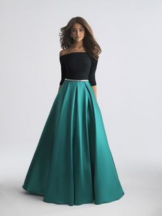 16a0c534838e Style 18-609 from Madison James is a off shoulder three quarter sleeve Prom  Dress