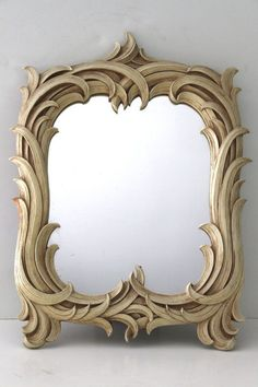 Vintage Syroco Wood Mirror by OfAllTheFishVintage on Etsy, $85.00: