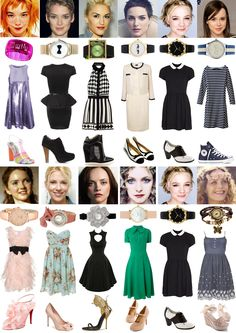 Image & Style Identity Cheat Sheet - Gamine versus Ingenue Dress Styles : Ethereal, Romantic, Dramatic, Classic, Gamine + Ingenue, Natural.